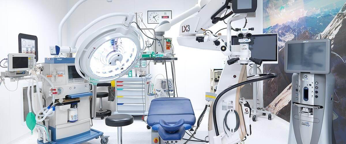 OP Saal Augenoperation in der Schweiz